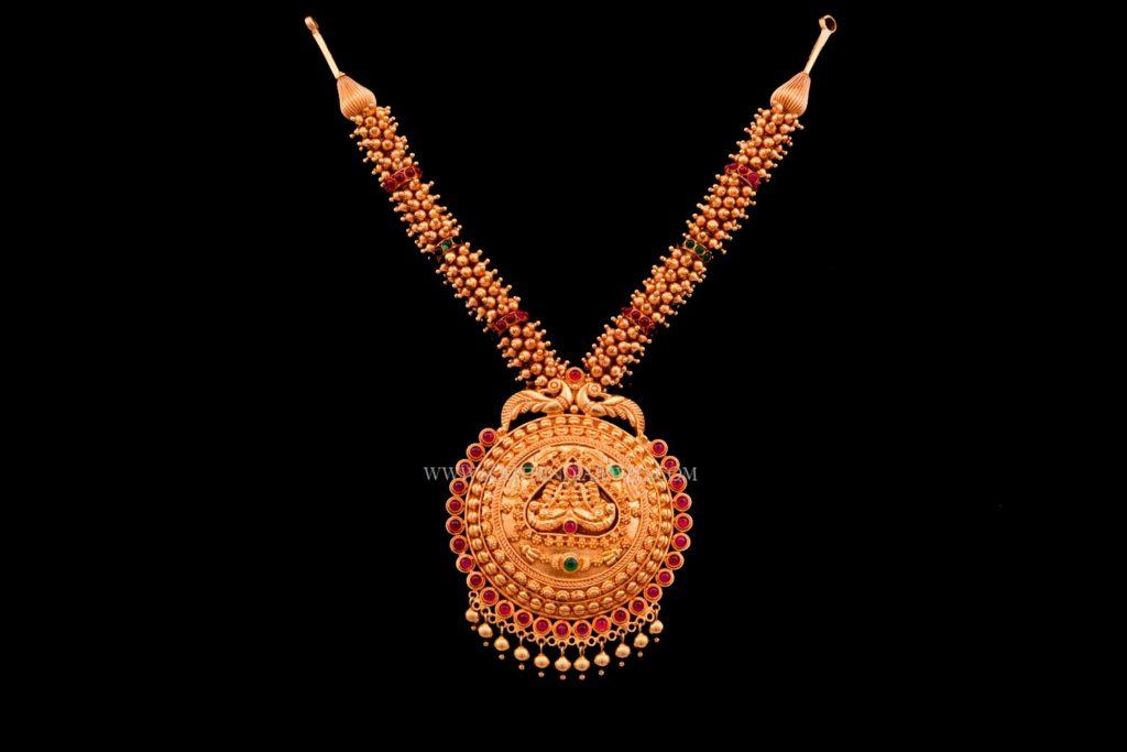 Gold Antique Temple Necklace