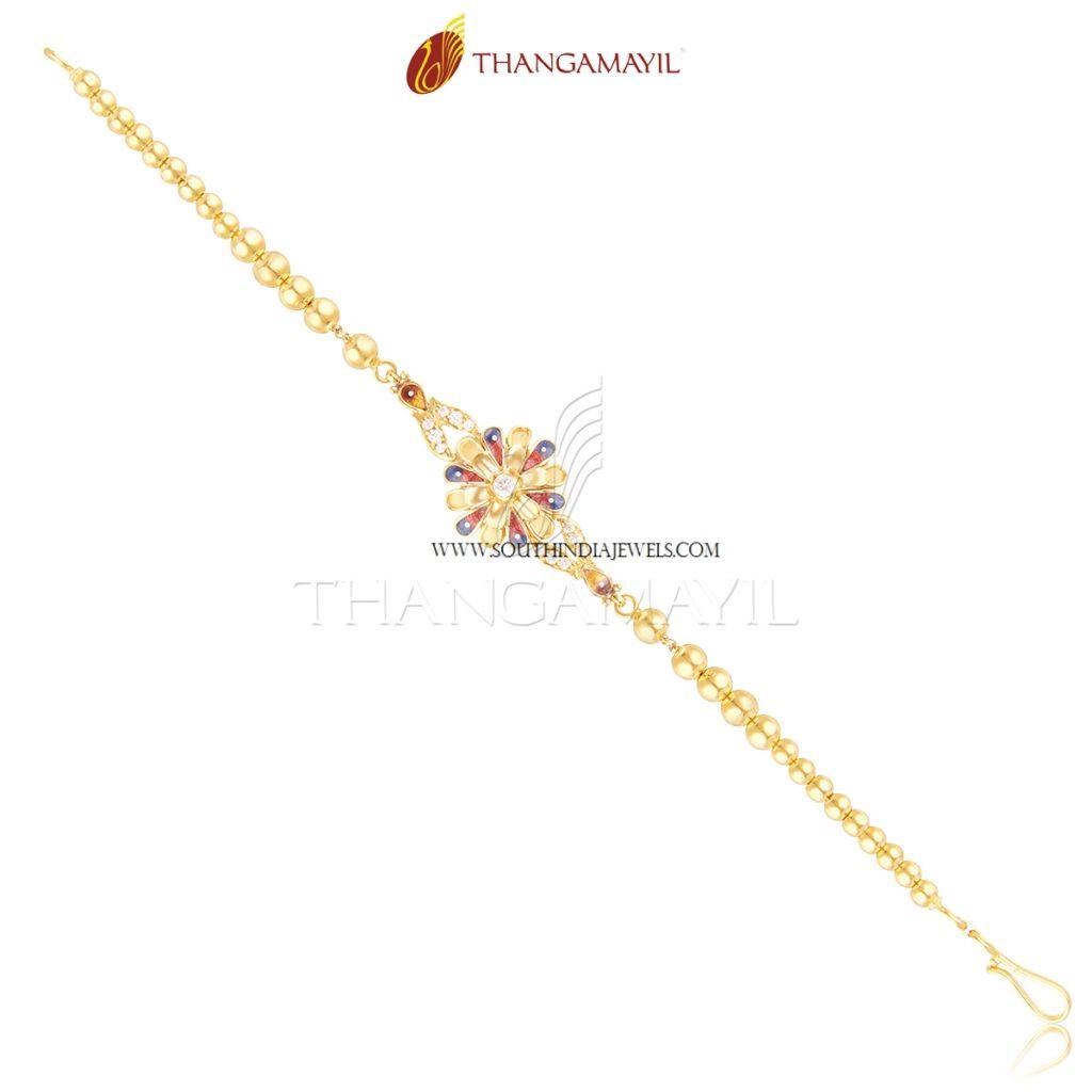 Simple Gold Enamel Bracelet