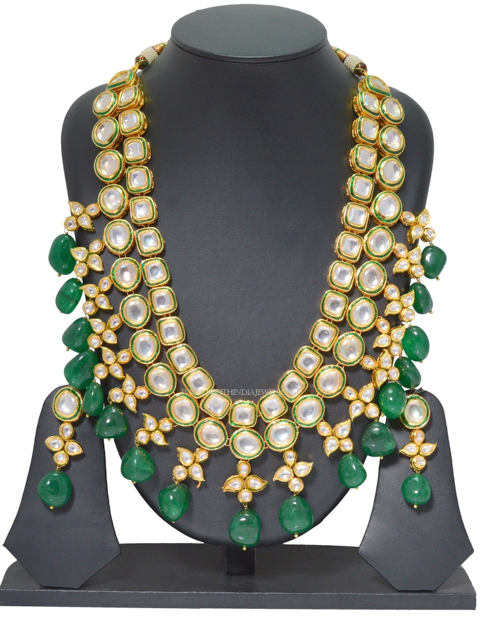 Gold Plated Kundan Necklace Set with Price