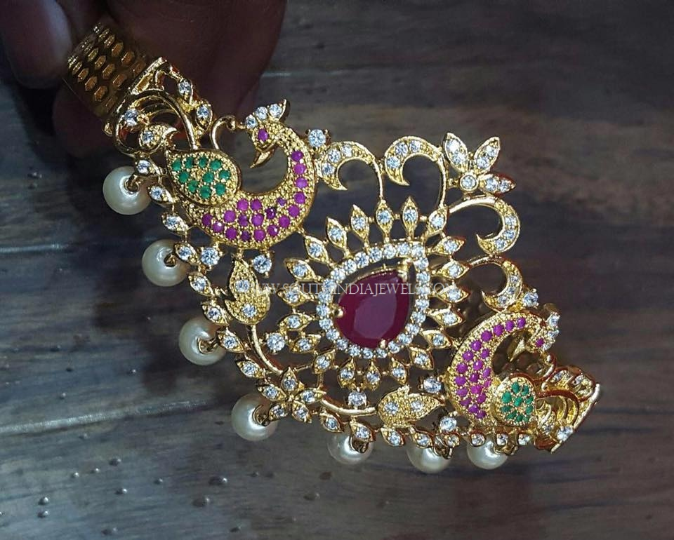 Gold Plated Stone Arm Band With Price