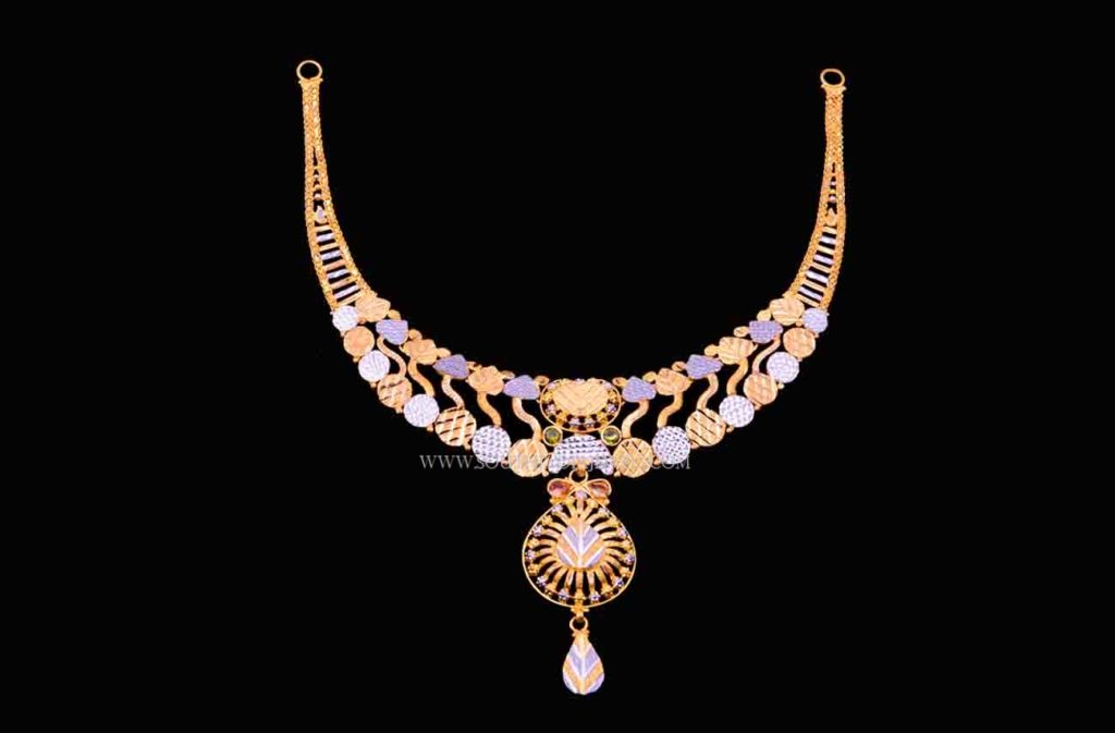 gold rhodium necklace