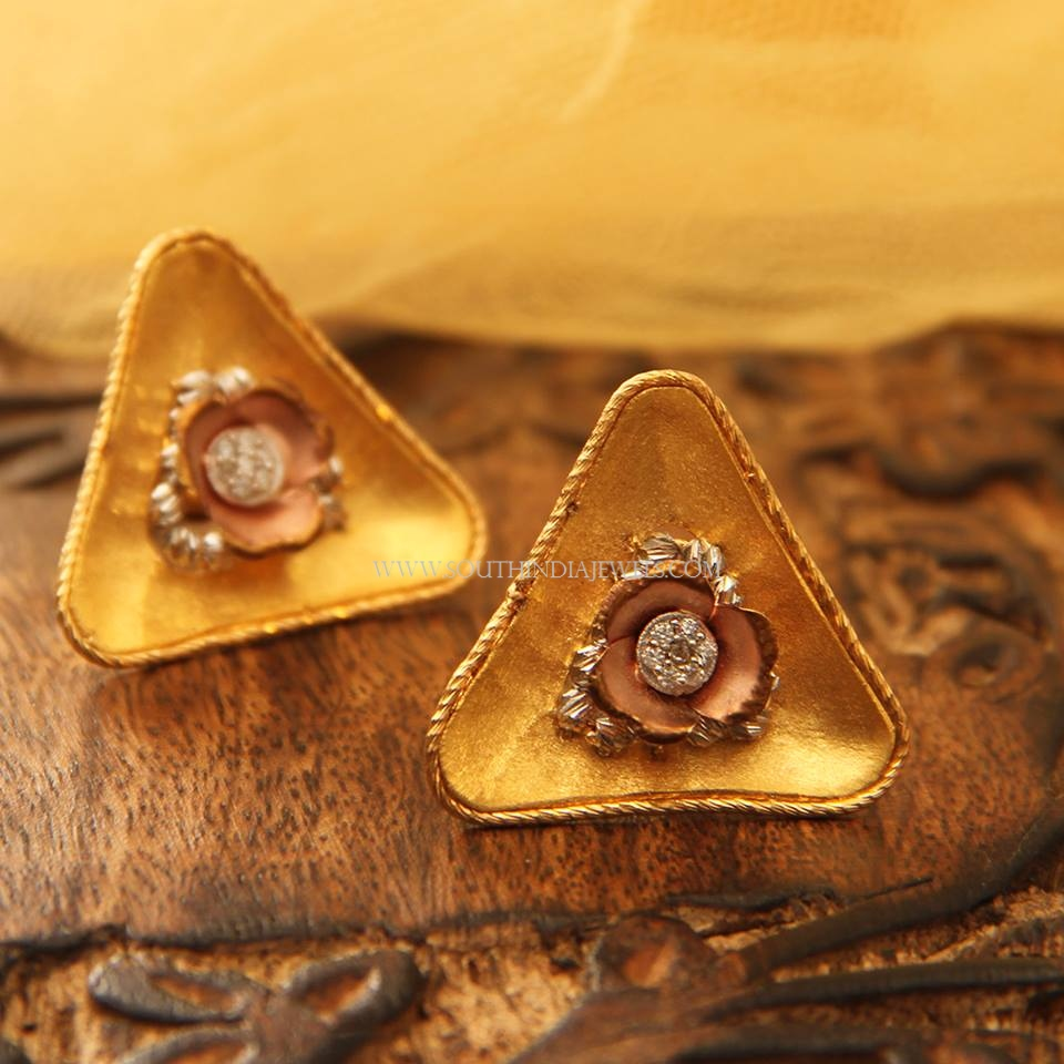 Gold Rustic Ear Studs