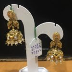 Simple Gold Antique Jhumka From PSJ