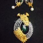 Designer Diamond Pendant Earrings