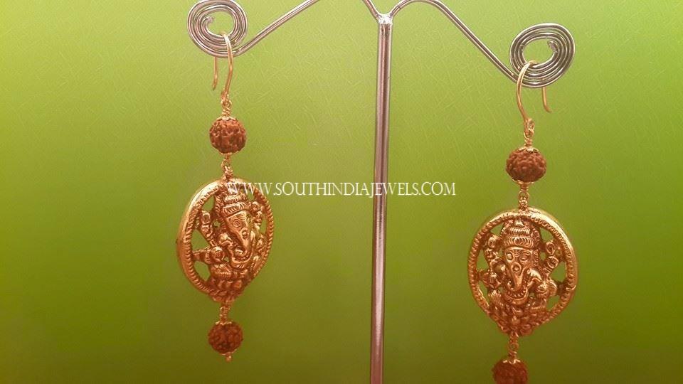 Gold Hoop Temple Earrings
