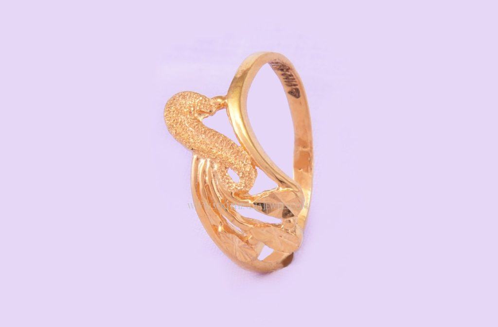 22K Simple Gold Ring Design