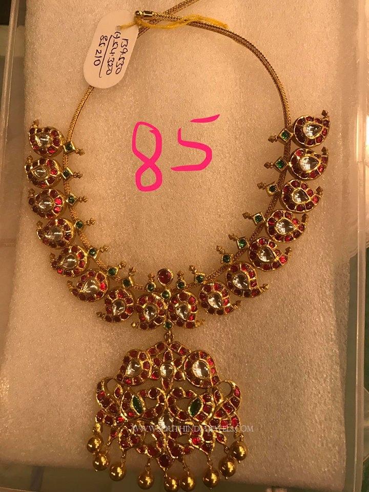 85 Grams Gold Antique Necklace