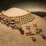 Designer Gold Beaded Choker Set