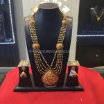 Gold Antique Gundala Haram With Weight Details