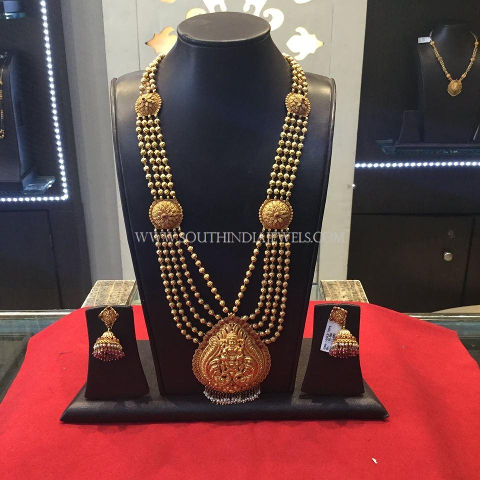 Gold Antique Gundala Haram With Weight