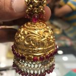 Gold Antique Ruby Jhumka