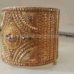Gold Big Bangles With Stone Work