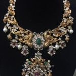 Grand Gold Peacock Necklace