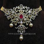 Gold Short Diamond Choker Necklace
