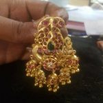 Gold Plated Silver Temple Pendant