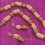 Gold Plated Clustered Pearl Mala
