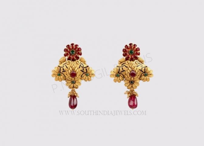 daily wear gold earrings designs