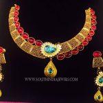 Gold Designer Ruby Necklace