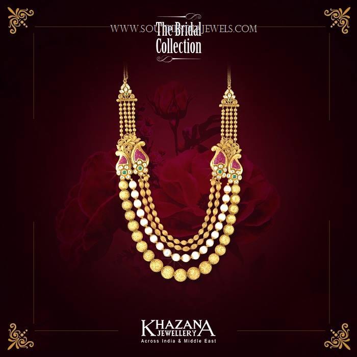 gold haram designs in khazana jewellery
