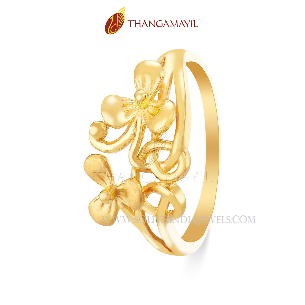 Gold Matt Finish Daily Wear Ring