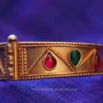 Gold Plated Kada With Colorful Stones