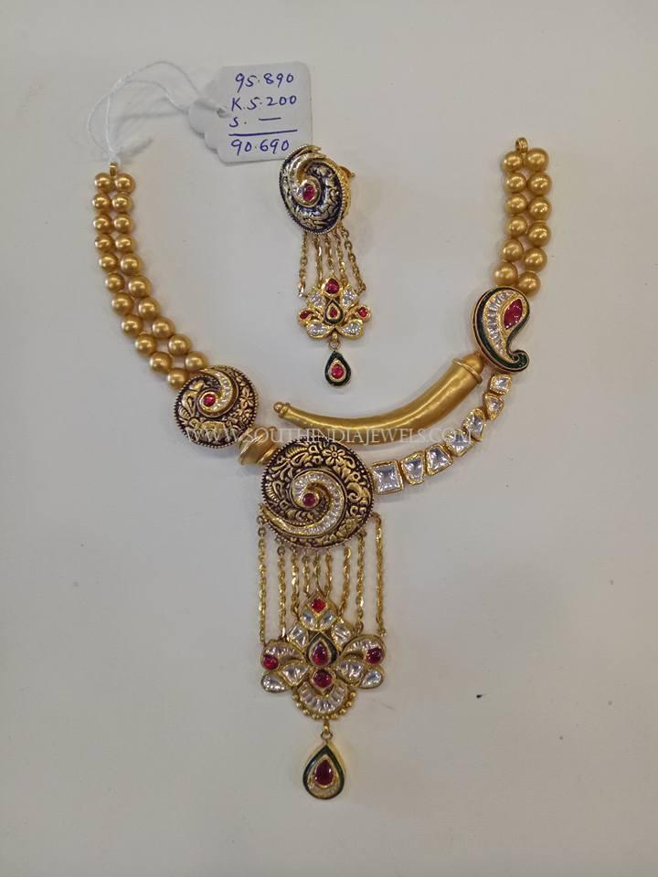 90 Grams Gold Designer Necklace Set