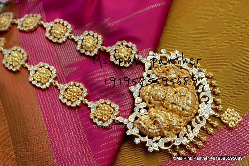 Antique Lakshmi Haram From Ms Pink Panther