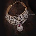 Diamond Choker Necklace From Aabushan Jewellery
