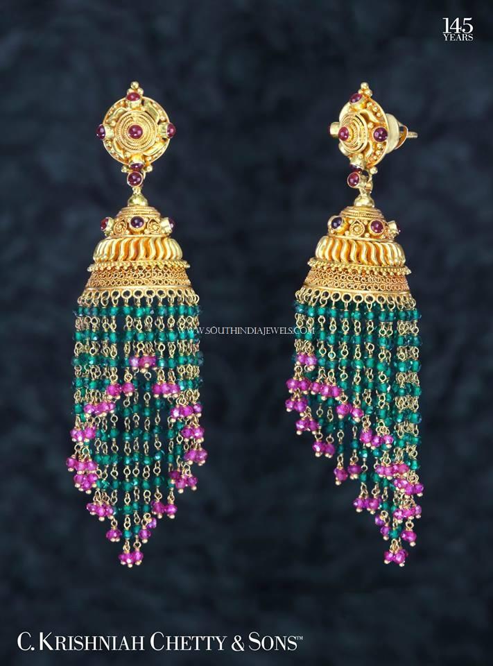 Gold Ruby Emerald Buttalu Design