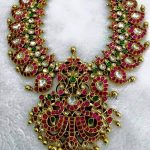 Gold Antique Ruby Mango Necklace