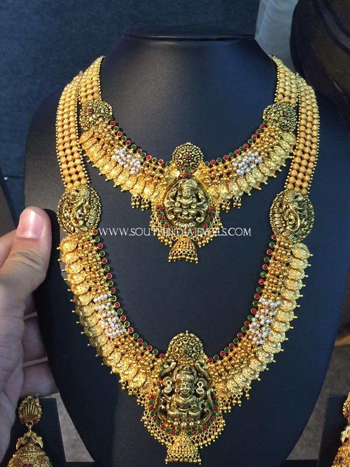Complete Gold Bridal Temple Jewellery Set