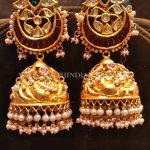 Bold Gold Antique Jhumka Model