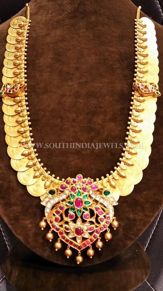 Gold Antique Kemp Kasumalai Necklace
