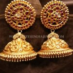 Gold Bridal Kemp Jhumka Design