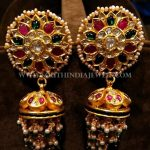 Gold Designer Pearl Jhumka Model