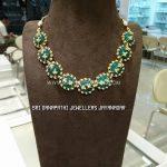 Gold Gemstone Choker Necklace