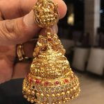 Gold Plain Lakshmi Jhumka Design