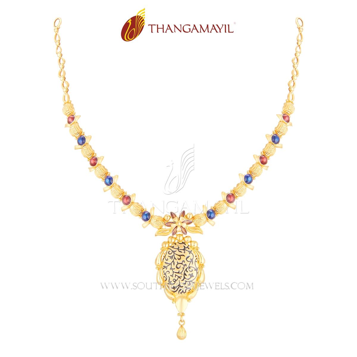 Gold Light Weight Designer Short Necklace