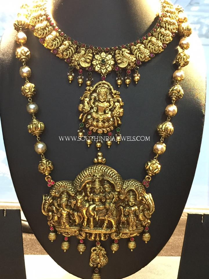 Gold Nakshi Bridal Jewellery Set