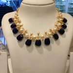 Gold Pearl Gemstone Necklace