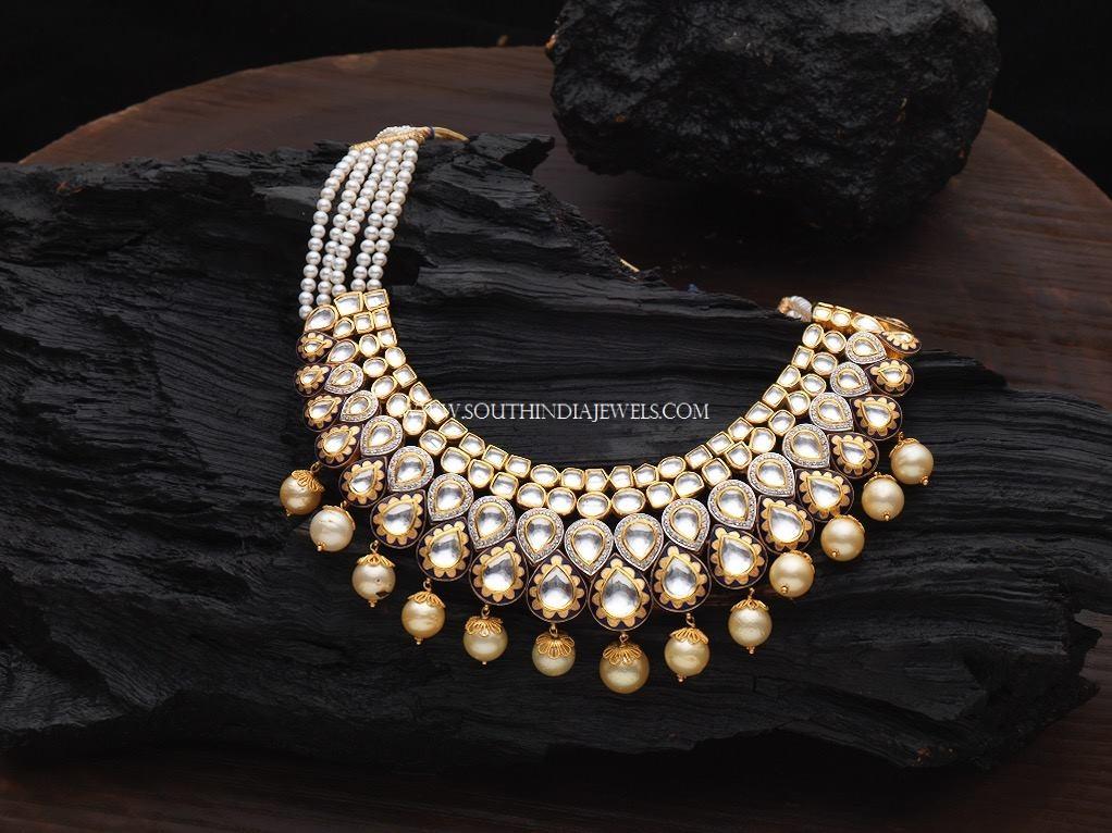 Gold Pearl Polki Haar