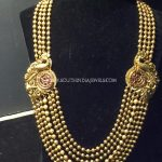 Multilayer Chain Haram With Peacock Mogappu