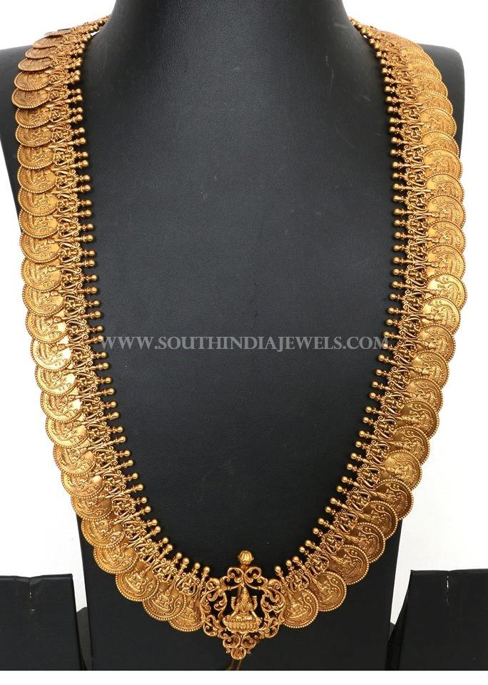 300 Grams Gold Long Lakshmi Kasumalai Necklace