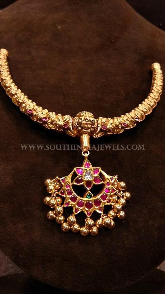 53 Grams Gold Antique Necklace