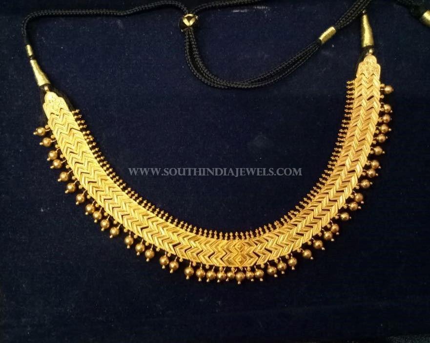 55 Grams Simple Plain Gold Necklace