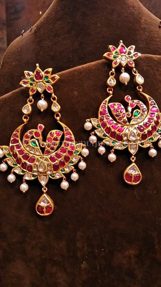 Beautiful Gold Antique Ruby Earrings