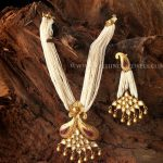 Pearl Mala With Gold Kundan Pendant