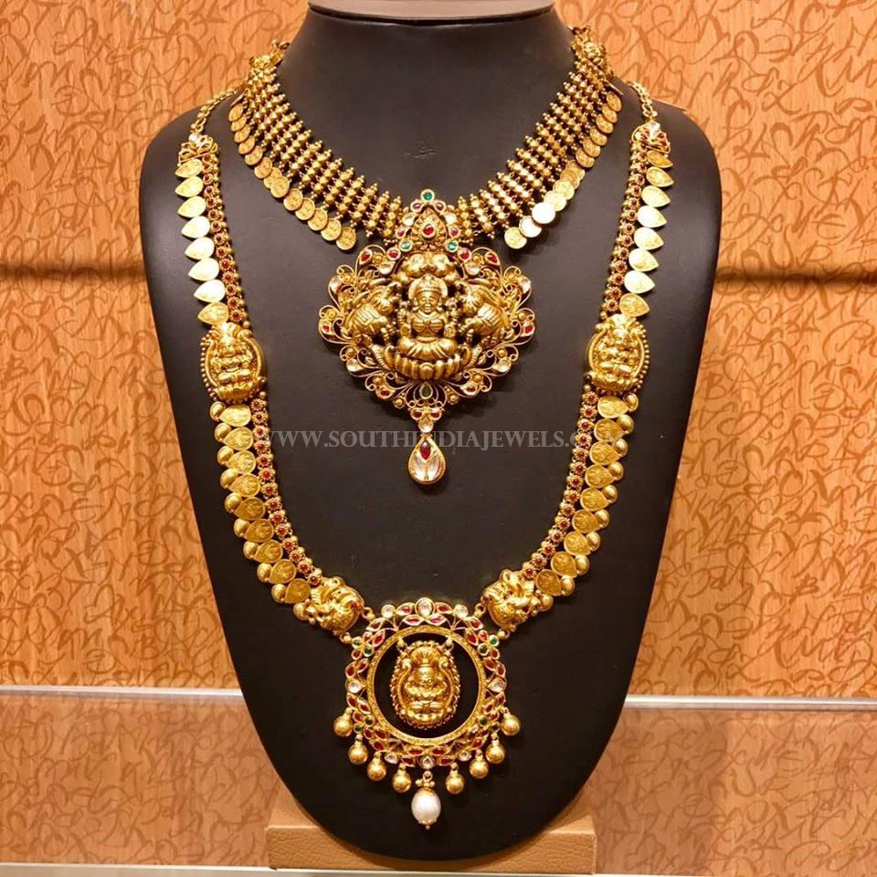 Gold Bridal Temple Jewellery Set