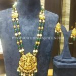 Gold Antique Emerald Temple Haram
