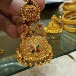 Gold Peacock Jhumka From SK Jewels